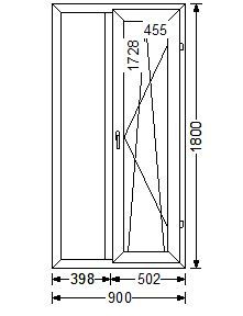 Эскиз окна с рамерами