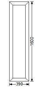 Эскиз окна с размерами